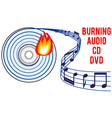 burning audio CD or DVD vector image