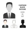 businessman icon cartoon single avatarpeaople vector image vector image