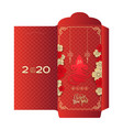 chinese new year greeting money red packet ang pau vector image vector image