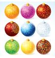 Christmas Decorative Balls vector image vector image