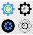 clock settings gear eps icon with contour vector image