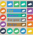 clouds icon sign Set of twenty colored flat round vector image vector image