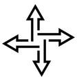 crossroads arrows indicate path flat vector image vector image