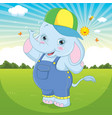 cute cartoon elephant vector image vector image