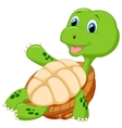 cute tortoise cartoon relaxing vector image vector image