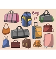 Different bags set vector image vector image