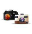digital photo camera on white background vector image