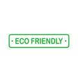 eco friendly green rectangle badge design element vector image vector image