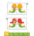 education paper crafts for children mermaids vector image vector image