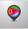 eritrea map pin vector image vector image