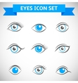 Eyes Icons Set vector image