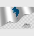 flag korea vector image vector image