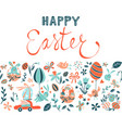 funny happy easter eggs hunt greeting card vector image vector image
