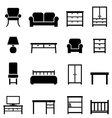 Furniture and home decor vector image vector image