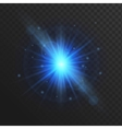 Glow light effect stars burst with sparkles vector image vector image