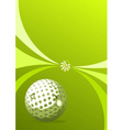 Golf sport background vector image vector image