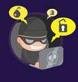 Hacker Thief Robbery Network Cartoon vector image