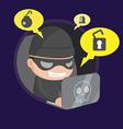 Hacker Thief Robbery Network Cartoon vector image