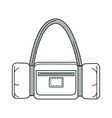 handbag or sport bag isolated outline icon vector image vector image