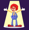 happy clown circus action performer vector image