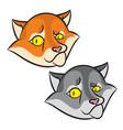 head of cartoon smiling cat vector image