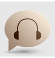 Headphones sign Brown gradient icon vector image vector image