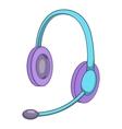 Headset icon isometris style vector image vector image