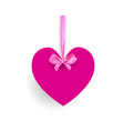 heart object banner vector image