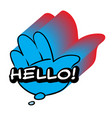 hello speech bubble colorful emotional icon vector image vector image