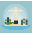 monument christ brazil urban landscape vector image vector image