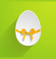 paper Easter egg vector image vector image