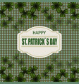 patrick s day image translucent leaf clover from vector image vector image