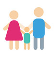 people silhouette happy family cartoon and vector image vector image