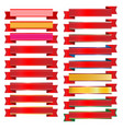 red ribbon on white background vector image vector image