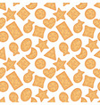 seamless pattern cracker chips different shapes vector image vector image