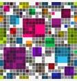 seamless pattern of geometric rainbow shapes vector image