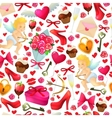 Seamless pattern of Valentines Day icons vector image vector image