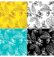 seamless pattern set with acorns vector image