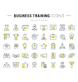 Set Flat Line Icons Business Training vector image vector image
