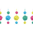 set of hanging colorful birthday party vector image vector image