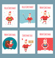 set of vintage christmas labels banners vector image vector image