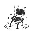 shower chair glyph icon device for physically vector image vector image