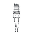 Spark Plug Isolated vector image vector image