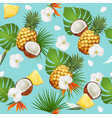 summer tropical seamless pattern with exotic vector image vector image