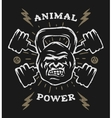 Two barbell and head gorilla weight vector image vector image