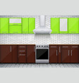 typical modular kitchen vector image vector image