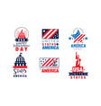 united states america logo design collection vector image vector image