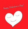 valentine day frame on a red pattern vector image