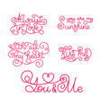 valentines day romantic phrases template for a vector image