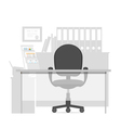 Workspace for a manager in office interior vector image vector image